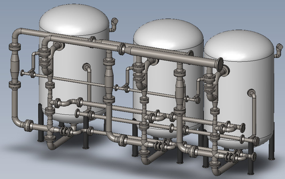 3d Cad Drawings For Condensate Polishers For University In