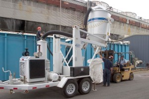 Vacuum Trailer used to Remove Ion Exchange Resin and Gravel from Existing Water Softener
