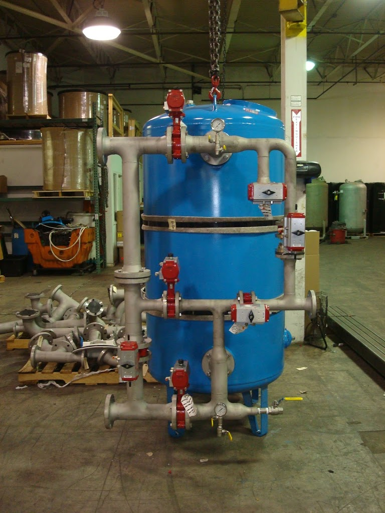 Hot Water Softener with Stainless Steel Piping and Bray Butterfly Valves