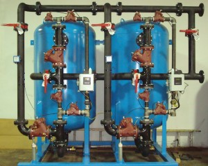150 gpm Continuous Water Softener System with Carbon Steel Face Piping and Interconnecting Headers