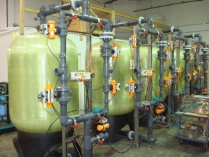 Greensand Filters During Factory Testing Showing Location of Each Fieldbus Block