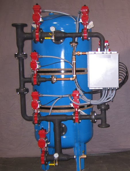 Specialized Condensate Polisher with Unlined Carbon Steel Tank and Welded Schedule 80 Black Iron Piping